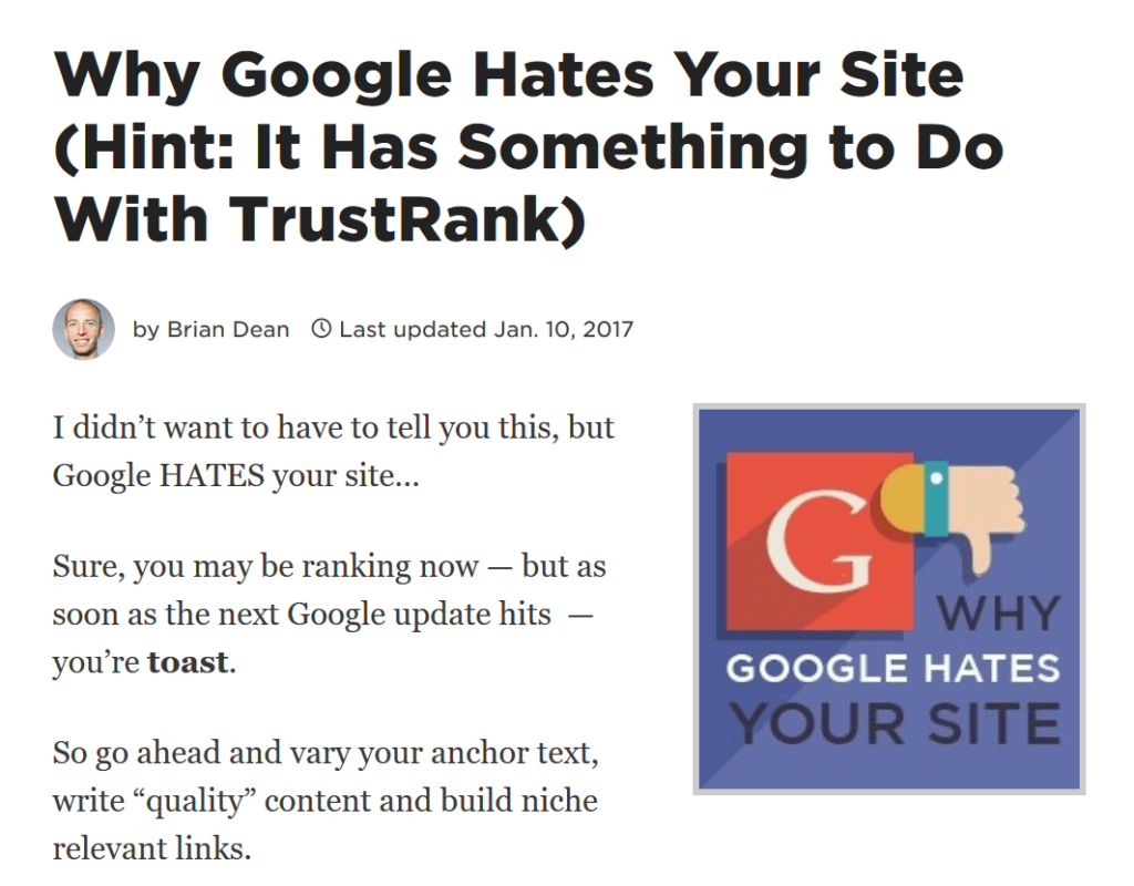 google trust article