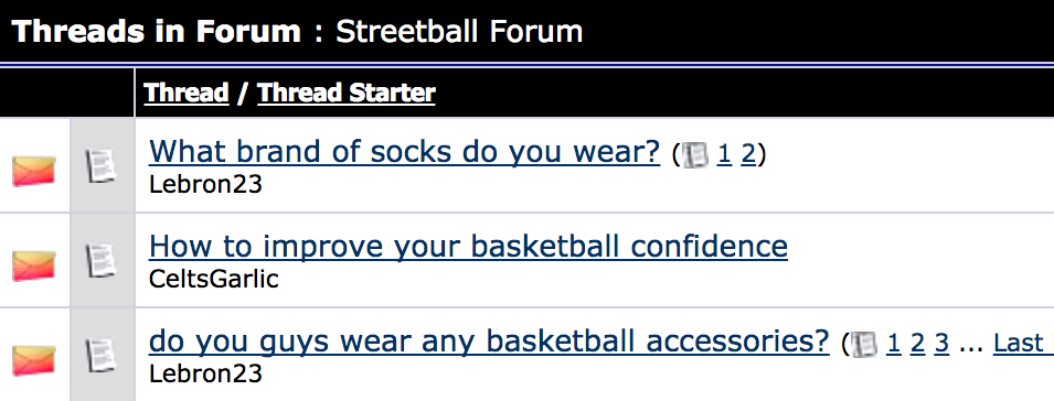 basketball threads in forum